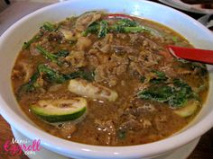 Cambodian food recipe dishes, som la ma chu kroeung, Cambodian rural soup dish with thai eggplant, basil, tripe, beef, lemongrass, kaffir lime leaves, Cambodian staple dish, Khmer food, Cambodian food, cusine