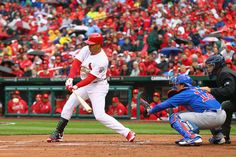 Beltran with his first hit at Busch 4-13-12