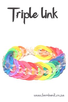 Triple link loom band bracelet - video tutorial