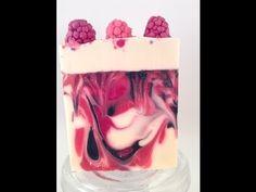 Making and cutting Black Raspberry Vanilla soap