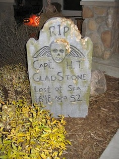 Sage is all about the creepy Halloween decor. DIY headstones and more.