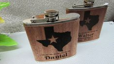 Set of 1 Groomsmen Gift Flask with Texas by weddingpartygifts Wedding Attendant Gifts, Gifts For Wedding Party, Wedding Ideas, College Gifts, Father Of The Bride, Groomsman Gifts, Personalized Wedding, Groomsmen, Special Day