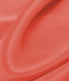 Coral Crepe Back Satin Fabric