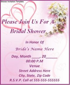 Free Editable Download in MS Word Shower Invitation Template