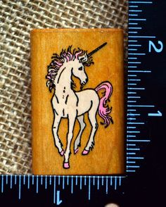 Comotion Fantacy Unicorn Horse Scene Builder Rubber Stamp | eBay (own!)