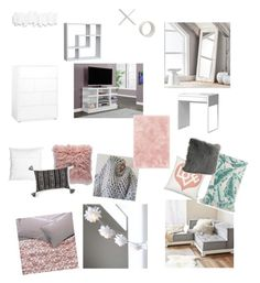 """""""Untitled #25"""" by olivacarroll on Polyvore featuring interior, interiors, interior design, home, home decor, interior decorating, PBteen, Aerie, Thro and Vitra"""