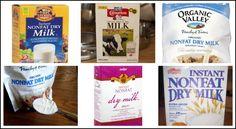 Uses for Dry Milk - sour cream, milk, evaporated milk, sweetened condensed milk, white sauce, hot chocolate mix
