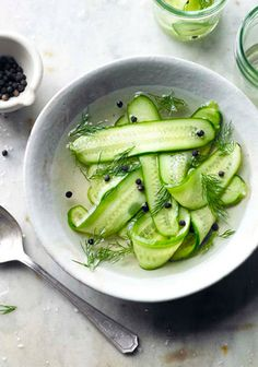 Fresh Dill and Cucumber Salad by zsites. Image credit Clare Winfield #Salad #Cucumber #Dill