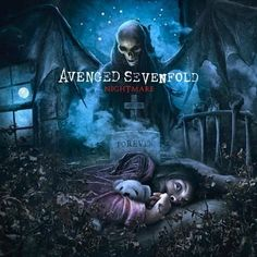 """2010 avenged sevenfold album """"nightmare""""cover love this album great songs on there like welcome to the family"""