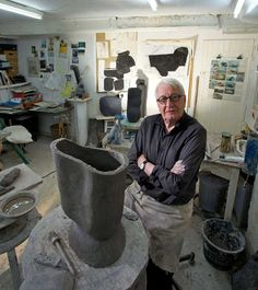 Previous exhibitions at York Art Gallery have included 'Excitations' curated by ceramicist Gordon Baldwin (pictured in his studio - image Sayer). Pottery Studio, Pottery Art, York Art Gallery, Pottery Techniques, Ceramic Clay, Ceramic Studio, Pottery Designs, Artist Life, Ceramic Design