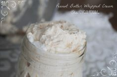 Peanut Butter Whipped Cream via Our Full Table