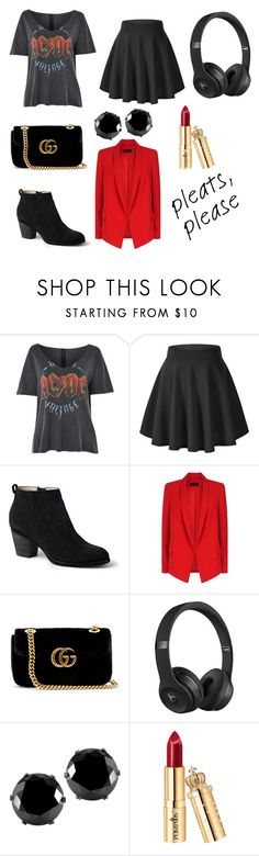 """""""Classy N Sassy"""" by sarcasm-is-my-language ❤ liked on Polyvore featuring Topshop, Lands' End, ESCADA, Gucci, Beats by Dr. Dre and West Coast Jewelry"""