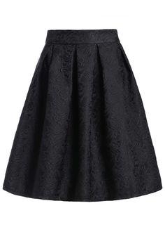 Jacquard Black Midi Skirt 16.14