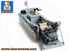 Lego moc US Landing Craft custom model gallery Lego Ninjago, Bateau Lego, Legos, Lego Ww2 Tanks, Lego Soldiers, Ww2 German, Lego Boat, Lego Truck, Lego Army