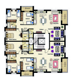 Residential building_Ramallah plan My work in Engineering Offic. - Architecture - Home Design Residential Building Plan, Office Building Plans, The Plan, How To Plan, Hotel Floor Plan, Architecture Résidentielle, Model House Plan, Apartment Floor Plans, Architectural Design House Plans