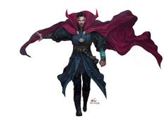 Benedict Cumberbatch as Doctor Strange - Inhyuk Lee Marvel Fan, Marvel Dc Comics, Marvel Heroes, Marvel Avengers, Marvel Doctor Strange, Marvel Characters, Marvel Movies, Stucky, Loki