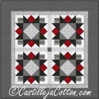 Star Flower Table Mat Quilt Pattern CJC-50772