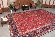 "Turkish Floral Persian Rustic Home Decor Oriental Area Rug 9'7"" x 12'8"", Code: 071810 large rug"