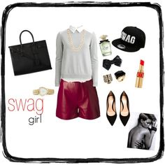 """SWAG girl"" by lenkafen on Polyvore"