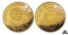 Moedas de Euro emitidas por Portugal: Vasco da Gama (ouro FDC) Valor facial 1/4€