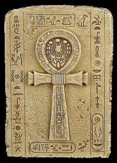 """Ankh- also known as key of life, the key of the Nile or crux ansata (Latin meaning """"cross with a handle""""), was the ancient Egyptian hieroglyphic character that read """"life"""", a triliteral sign for the consonants. It represents the concept of eternal life, which is the general meaning of the symbol. The Egyptian gods are often portrayed carrying it by its loop, or bearing one in each hand, arms crossed over their chest."""