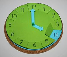 : Handcrafted clock with flaps, math, time, tinker - schule - Teaching Time, Teaching Math, Math Math, Preschool Learning, Preschool Activities, Babysitting Activities, Indoor Activities, Summer Activities, Family Activities