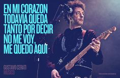 No me voy. Missing You Quotes, Love Quotes, Music Tv, Music Songs, Perfect Love, My Love, Soda Stereo, Spanish Quotes, Be Yourself Quotes