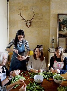 Teaching cooking workshops is a new part of Mimi's routine. Visitors from across the world come to immerse themselves in her remote corner of France. Mimi Thorisson, Make Ahead Brunch, French Kitchen, Slow Living, French Food, Spring Recipes, Cookbook Recipes, Homemaking, A Table