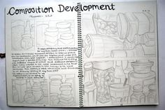 This would be relative for National internal unit development ideas. A Level Art Sketchbook, Sketchbook Layout, Sketchbook Pages, Sketchbook Ideas, Artist Research Page, Book Presentation, Observational Drawing, Ap Studio Art, Composition Design