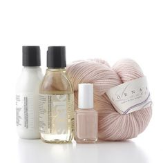 Double Pointe Pink, out of the box.  Soft and sweet. (from @Jacqueline Sava and @Lorna's Laces)