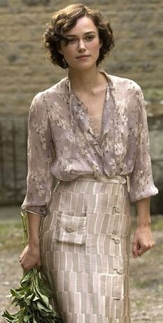 1930s vintage fashion from the film 'Atonement'