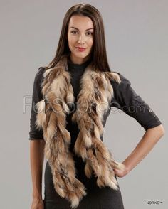 Strip Boa Scarf - Crystal Fox Fur Fur Scarves, Mink Jacket, Rabbit Fur Coat, Fur Rug, Fur Blanket, Mink Fur, Fox Fur, Crystal, Jackets