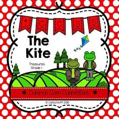 The Kite - First Grade Treasures - Common Core Connections for comprehension, phonics, high frequency words, grammar, and fluency.  Games, centers, printables!  Easy prep!