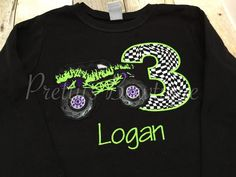 Monster Truck Birthday Shirt any age you can by PrettysBowtique