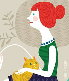 #cat #illustration by Orange You Lucky