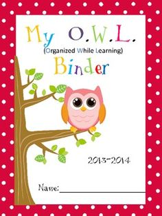 Owl Binder Covers