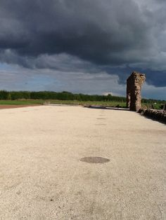 "Wroxeter Roman City, Shropshire - remains of an exercise hall or ""basilica"""
