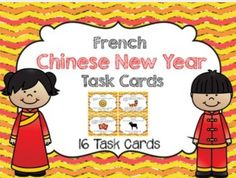 French Chinese New Year task cards (Nouvel An chinois Cartes à tâches)