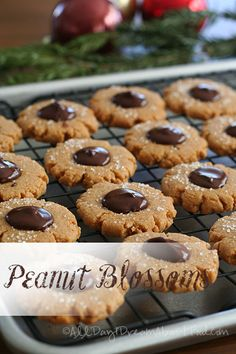 Low Carb Peanut Butter Blossoms Recipe | All Day I Dream About Food