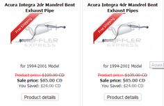 Buy only the Acura exhaust pipe in Toronto, Canada; Muffler Express offer different brands have different price and quality. Exhaust pipe supports the overall performance of cars; so, you can't compromise with anything less than the best. You should focus upon the price and the quality both.