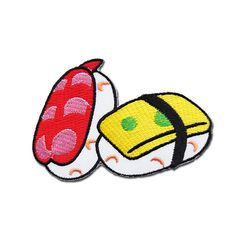 Sushi Patch  Sushi Embroidered Iron on Patch / by craftsisterday