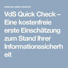 vds quick check eine kostenfreie erste einschtzung zum stand ihrer informationssicherheit - Sicherheitskonzept Muster