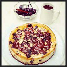 Jamie Oliver chocolate cherry cheesecake