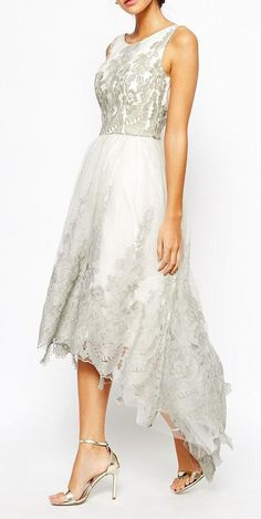 Chi Chi London Premium Embroidered High Low - rehearsal dinner beauty