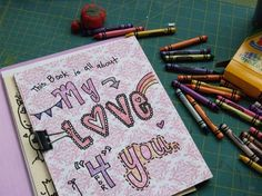 a printable art journal for you to make for those you love on #valentinesday