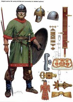 0400-0499 Visigodo. Los visigodos invadieron Italia bajo Alarico I y saquearon Roma en el año 410.