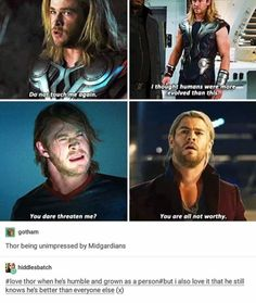 That's because he is better than everyone else #thor