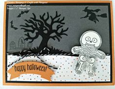 Creative Stamping & Crafts with Margaret: Spooky Skeleton!