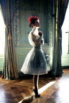 Ellen von Unwerth / Vogue Italia April 2012.    Christian Dior, Haute Couture.