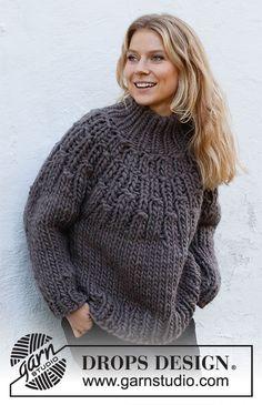 Sweater Knitting Patterns, Crochet Cardigan, Free Knitting, Knit Crochet, Crochet Patterns, Drops Design, Magazine Drops, Drops Patterns, Collar Designs